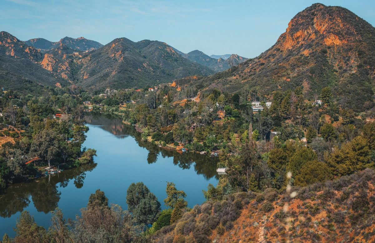 Beautiful view of Malibu lake from Malibu Creek State Park, California
