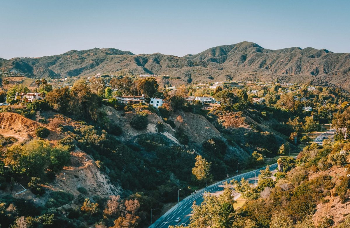 View of the Temescal Canyon in Pacific Palisades, California.