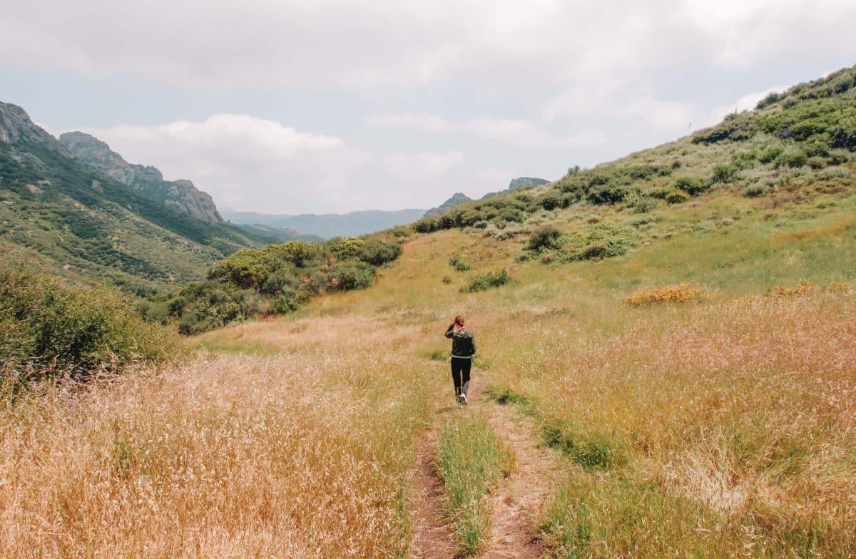 The Grotto Trail at Circle X Ranch, Santa Monica Mountains National Recreation Area, California, USA.