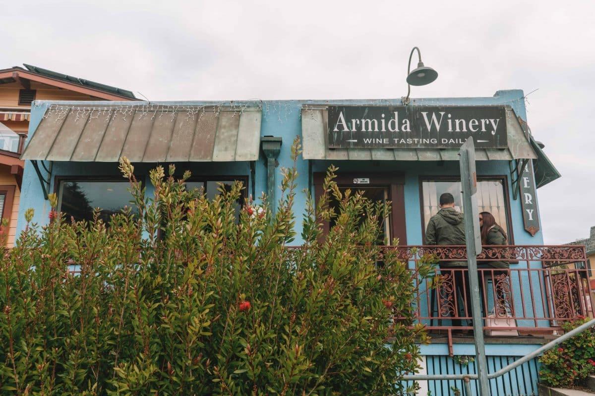 Capitola wine tasting at Armida Winery
