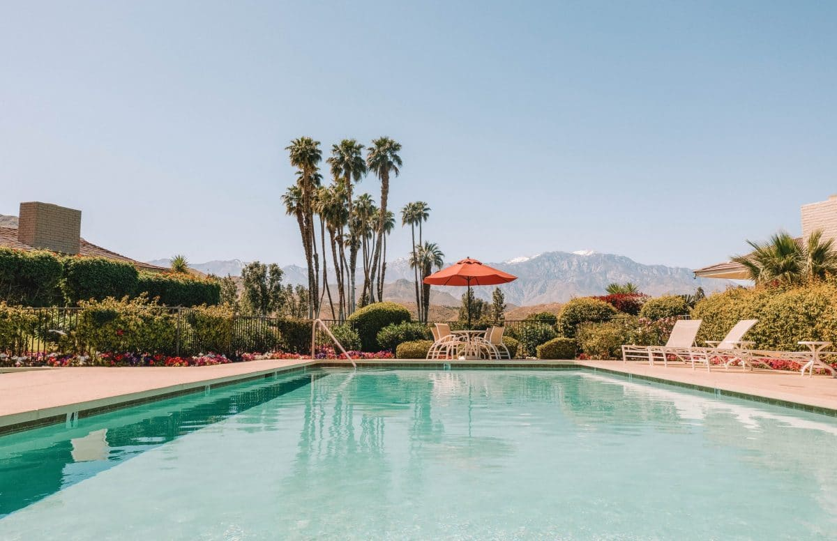 Relax by the pool in Palm Springs