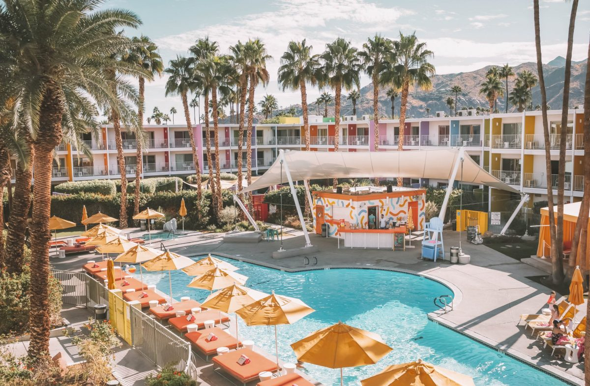 The Saguaro pool party in Palm Springs