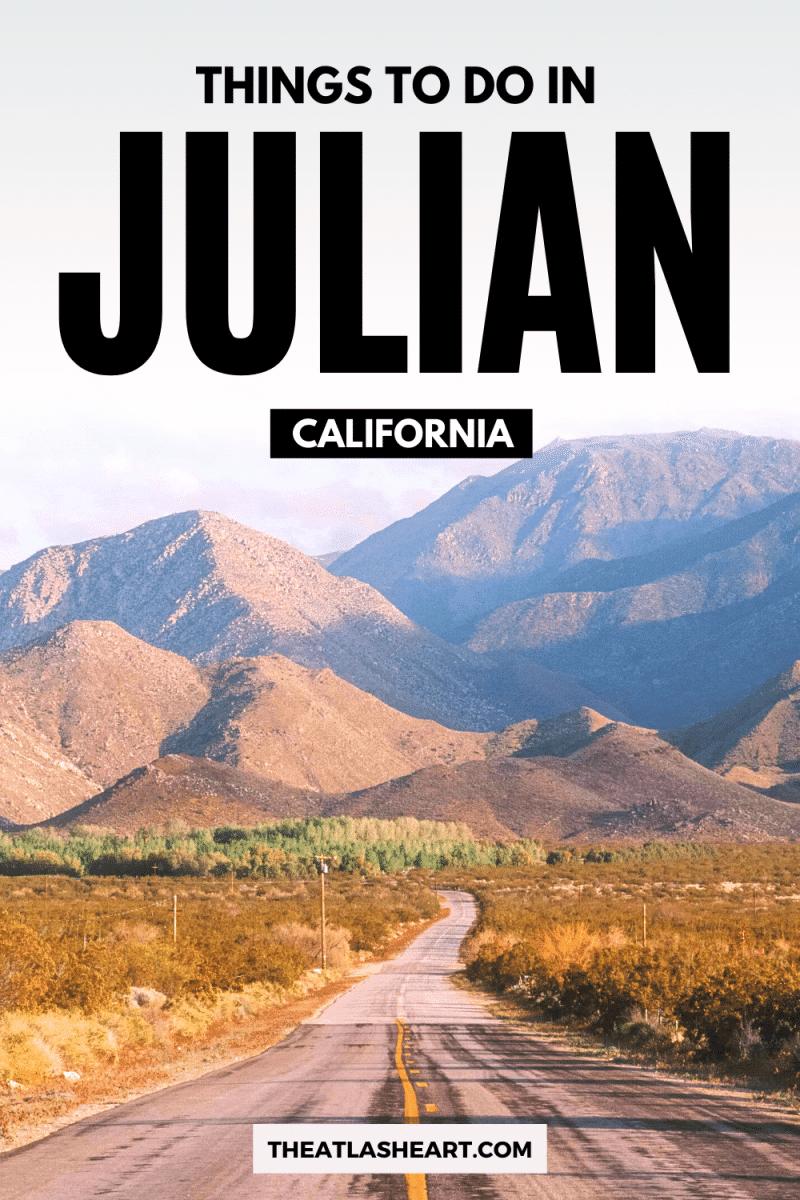 Things to do in Julian, California Pin 1