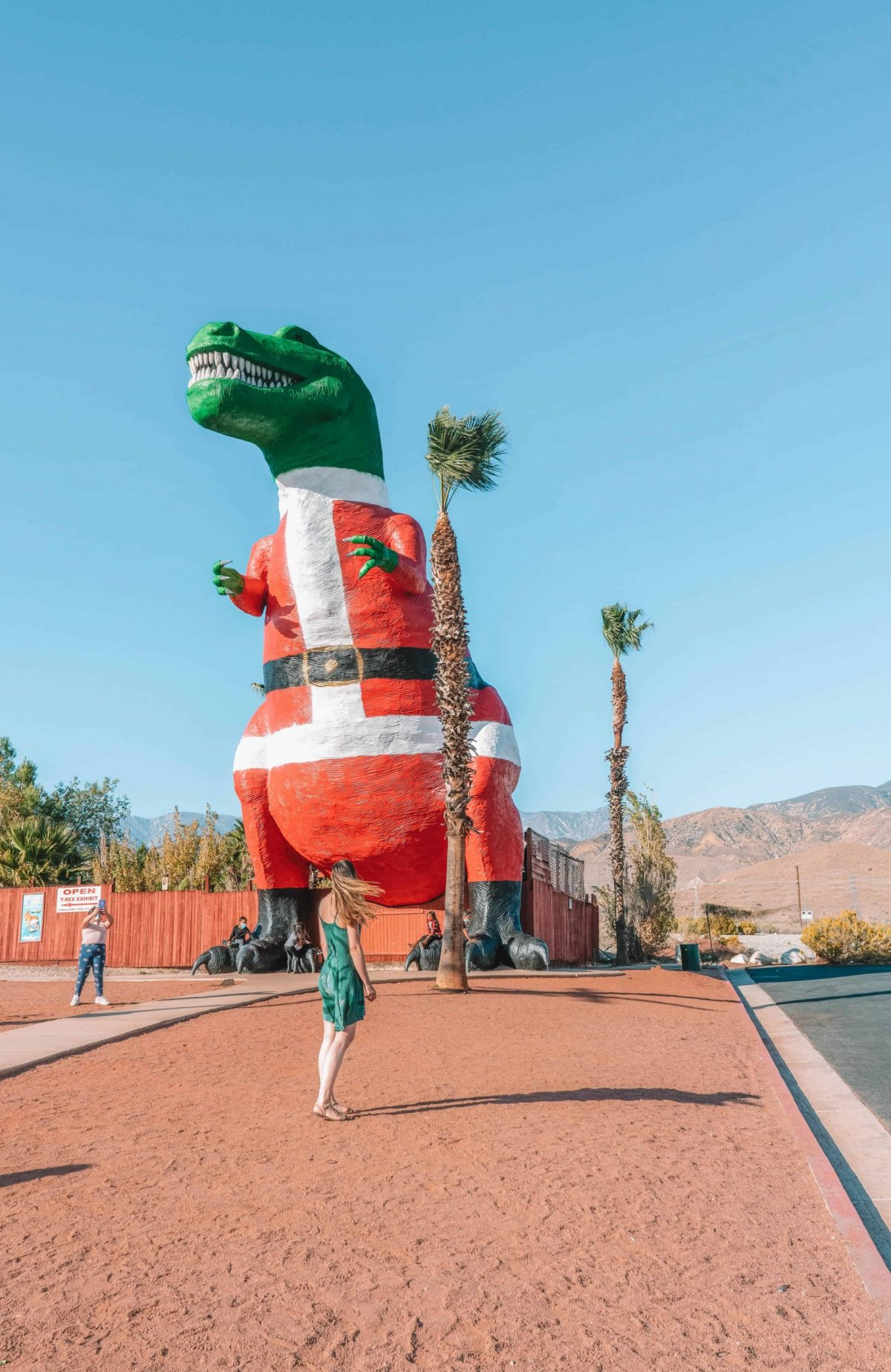 Cabazon dinosaurs roadside attraction near Palm Springs