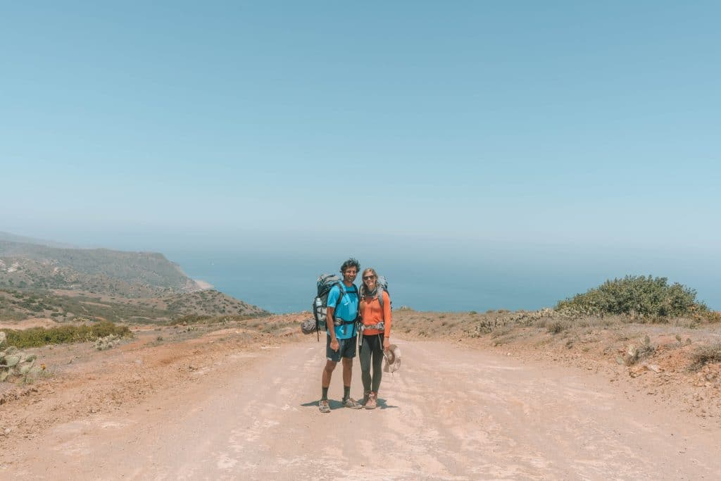hiking to little harbor campground