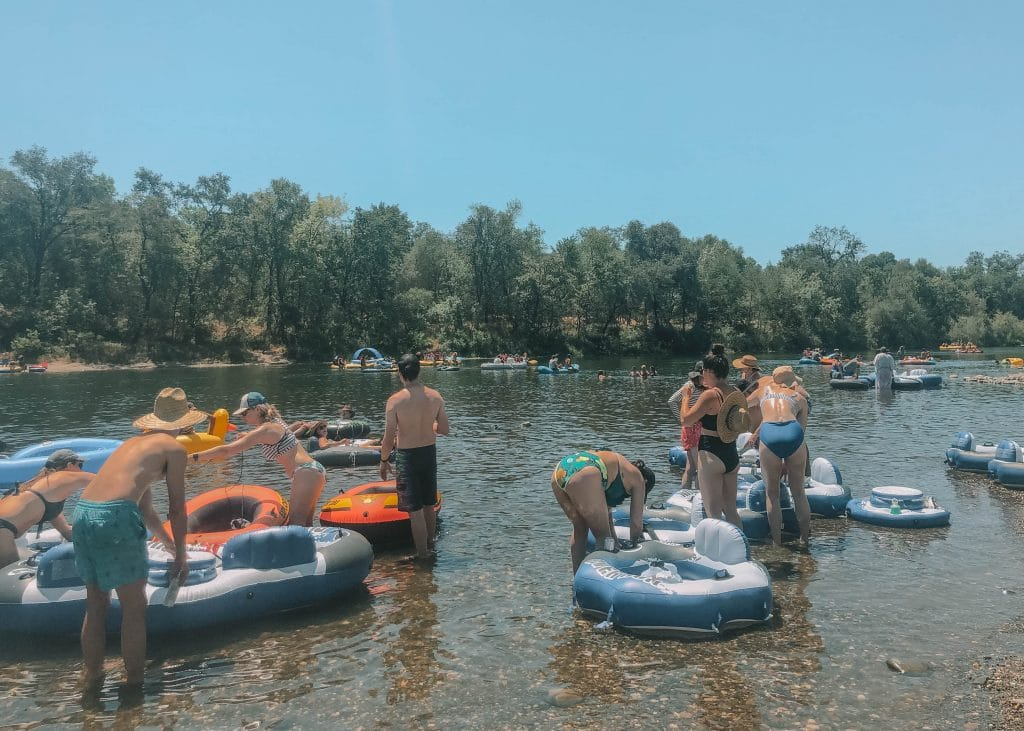 practical info for inner tubing the american river