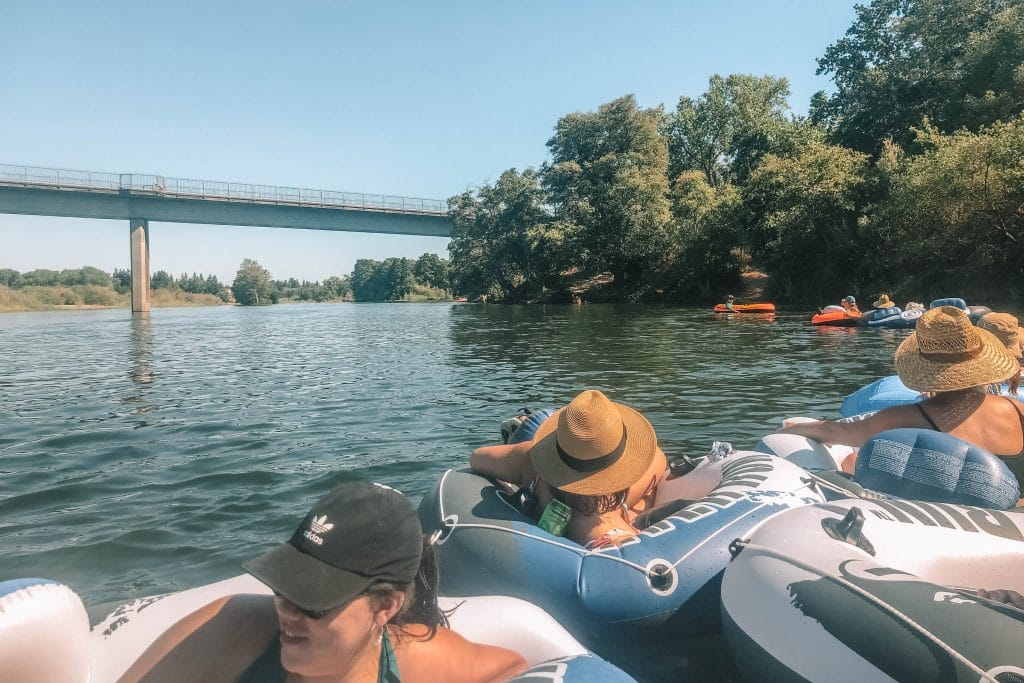 Floating the American River