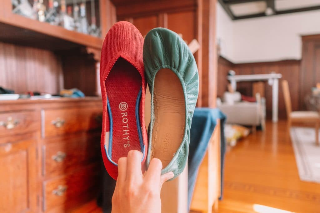 what's the difference between Rothys and Tieks shoes?