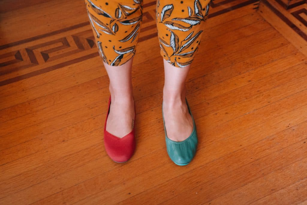 Rothys vs Tieks fit and sizing