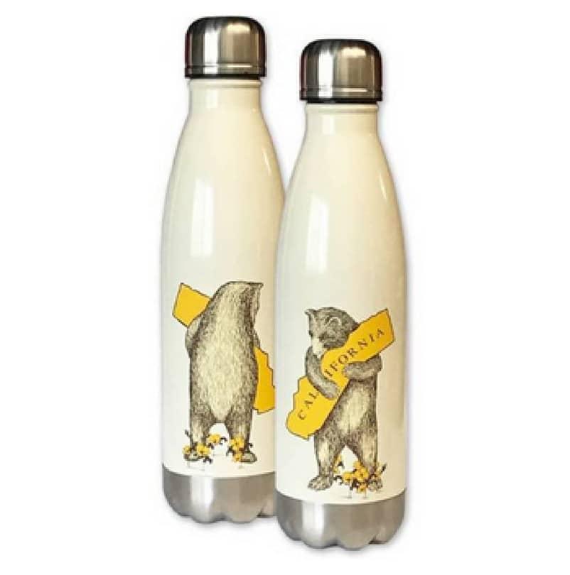 California Bear Stainless Steel Water Bottle Gift