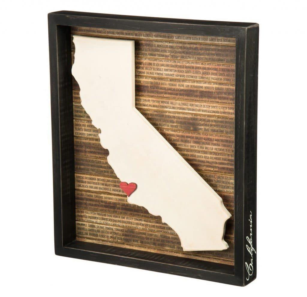 California Box Sign Gift