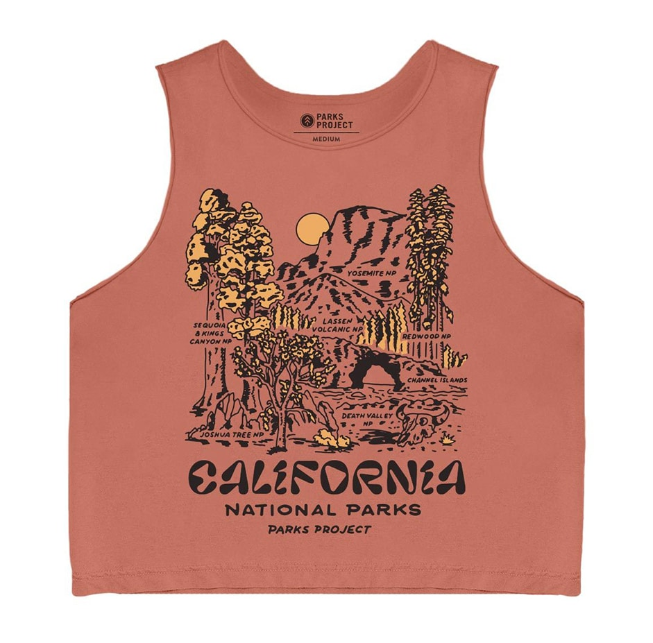 California National Parks Cropped Tank Gift