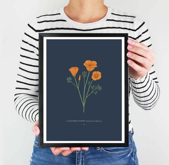 California Poppy Print Gift