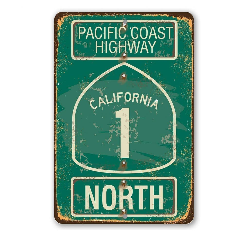 Highway 1 Sign Gift