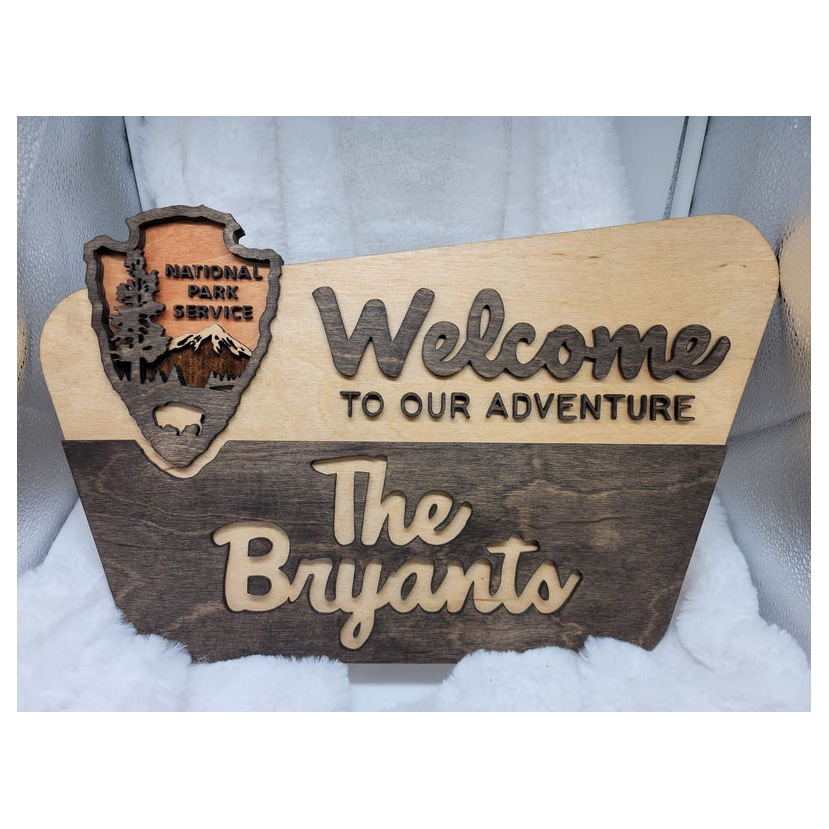 National Park Service Custom Welcome Sign Gift