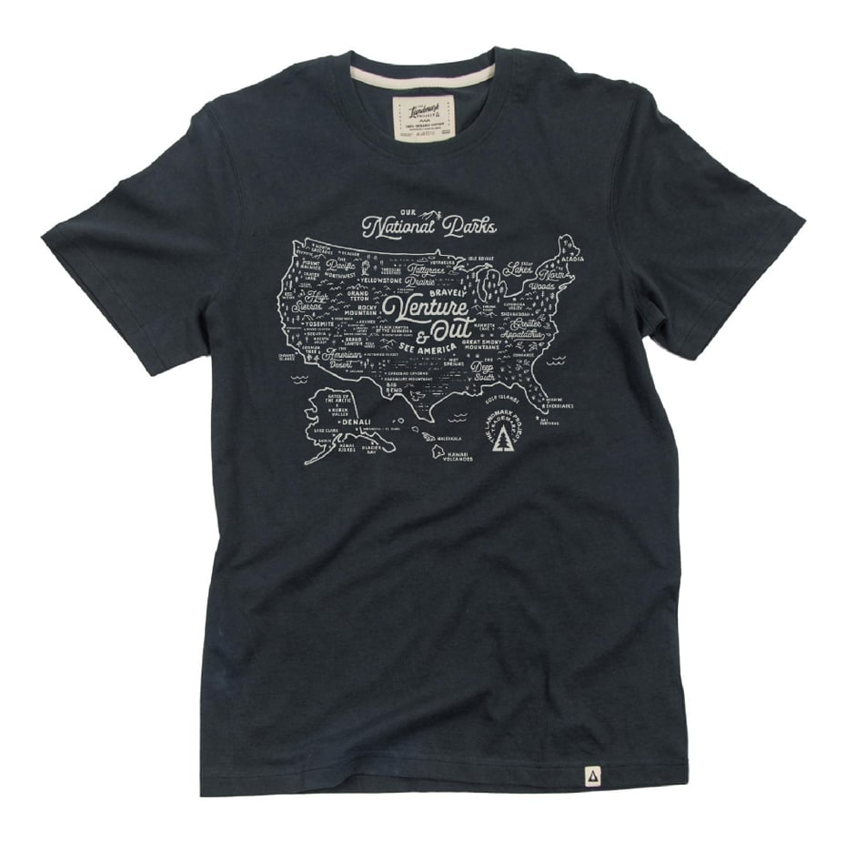 National Parks Map T-Shirt Gift