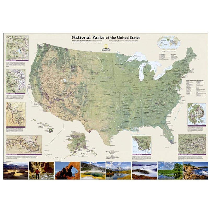 National Parks Wall Map Gift