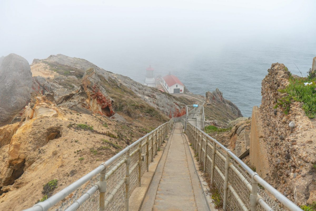 Point Reyes Lighthouse on a foggy day
