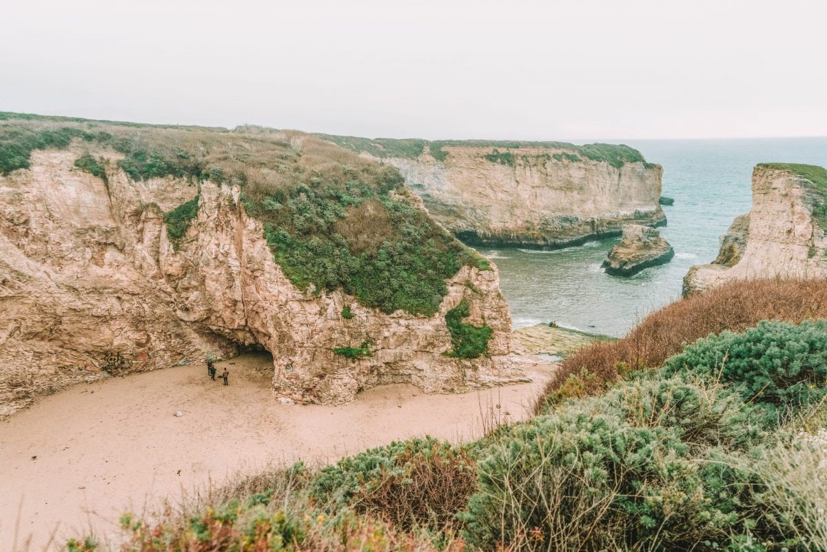 How to Get to Shark Fin Cove just south of Davenport